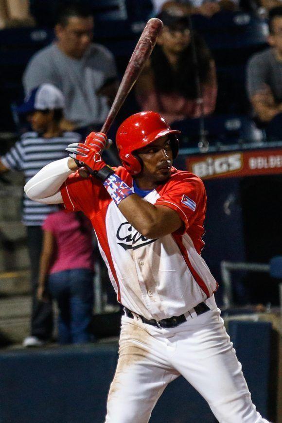 Raúl González, jugador de cuadro del equipo cubano, durante el segundo juego de béisbol del tope bilateral entre los equipos de Cuba y Estados Unidos, en el estadio Goodmon Field, en Carolina del Norte, el 03 de julio de 2017. ACN FOTO/Abel PADRÓN PADILLA