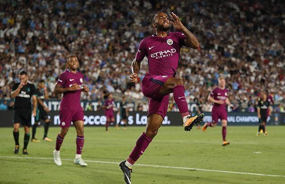 El Manchester City goleó 4-1 al Real Madrid en Los Ángeles. Foto: Getty.
