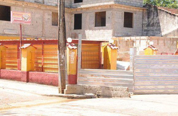 El rapidito, en Artemisa, es otro de los puntos donde acometen acciones constructivas. Foto: Otoniel Márquez/ El Artemiseño