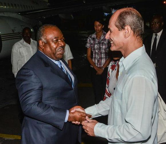 Alí Bongo, presidente de Gabón, inicia agenda de trabajo en Cuba