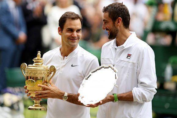 Roger Federer y Marin Cilic, los finalistas de Wimbledon-2017. Foto: Getty Images.