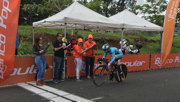 Sierra ganó prólogo de vuelta ciclística a Costa Rica. Foto: CON/ Teletica.