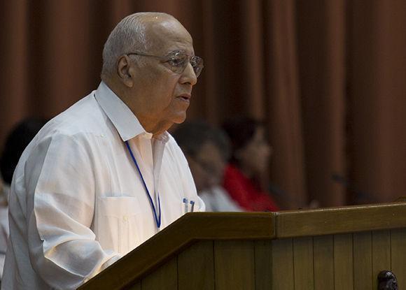 Ricardo Cabrisas, ministro de Economía y Planificación. Foto: Irene Pérez/ Cubadebate.