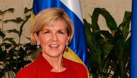 la Ministra de Relaciones Exteriores de la Mancomunidad de Australia, Julie Bishop visita Cuba. Foto: ACN.