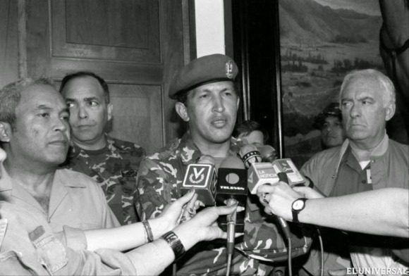 Chávez promete ante Venezuela deponer las armas y retomar la lucha por la justicia social. Foto: Archivo.