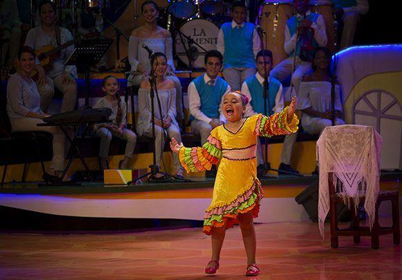 Una de las participantes en el programa La Colmena TV. Foto: Irene Pérez/ Cubadebate.