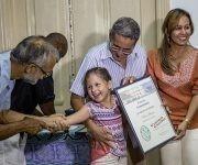 Katia Siberia, del periodico Invasor de Ciego de Avila, premio en Comentario, prensa escrita. Foto: Jennifer Romero.