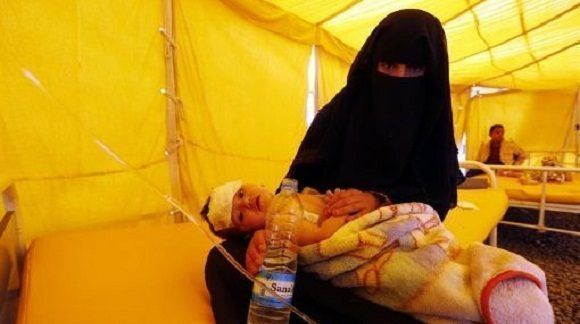 Casos de cólera en Yemen se duplicarían a finales de 2017