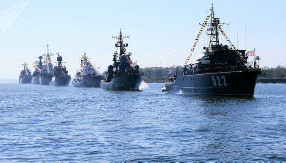 Rusia y China realizan maniobras militares conjuntas en el Mar Báltico. Foto: Sputnik.
