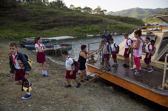 La llegada ala comunidad Hanabanilla. Foto: Ismael Francisco/ Cubadebate.