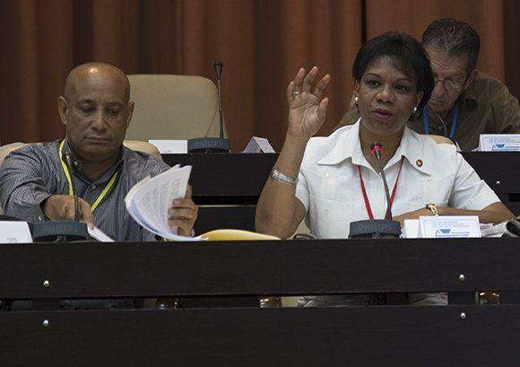 Inés María Chapman, presidenta del INRH. Foto: Irene Pérez/ Cubadebate.