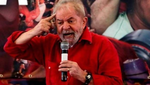 Lula Da Silva en un acto en Sao Paulo. Foto: AFP.