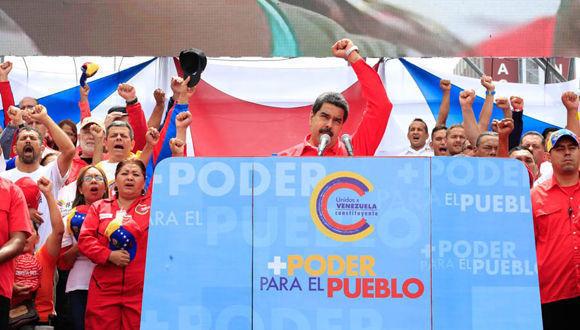"""""""Solo el pueblo, con su conciencia y su voto siempre decidirá el destino de su país. Al emperador Donald Trump le tenemos una sorpresa y esa sorpresa son las elecciones del 30 de julio, donde el pueblo le va a dar una lección al imperialismo y a los gobiernos extranjeros a punta de votos"""", expresó Maduro. Foto: @PresidencialVen"""