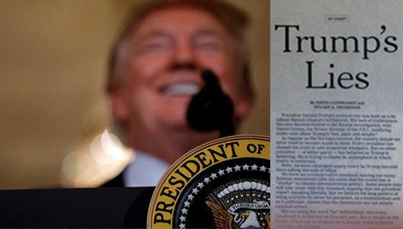 """""""The Washington Post"""" publicó un listado de las """"mentiras"""" vertidas por el mandatario desde que llegara a la Casa Blanca."""