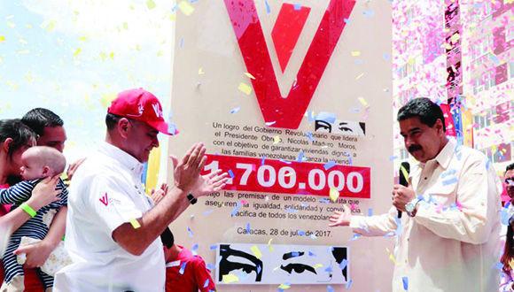Suman un millón 700 mil las casas entregadas por Misión Vivienda Venezuela