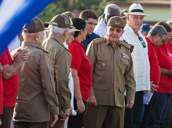 Raúl Castro en el acto central por el 26 de Julio en Pinar del Río. Foto: Irene Pérez/ Cubadebate.