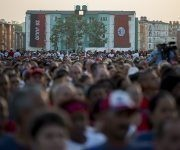 La Plaza provisional de la Revolución del reparto Hermanos Cruz de la ciudad capital de Pinar del Río acogió el acto central de las celebraciones por el 26 de Julio. Foto: Irene Pérez/ Cubadebate.