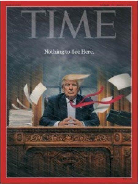 La tormenta Trump. Portada de la revista TIME del pasado 27 de febrero.