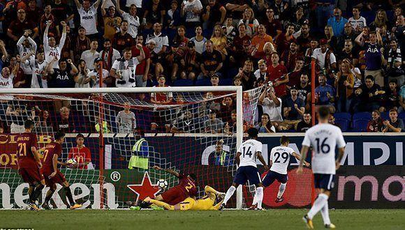 La Roma venció al Tottenham en un partido preparatorio. Foto: Reuters.