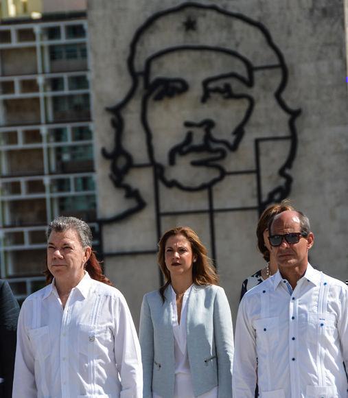 Santos en la Plaza de la revolución. Foto: Marcelino Vázquez Hernández/ ACN.