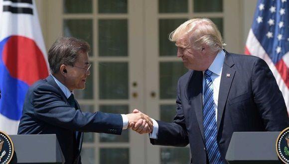"""En una declaración conjunta, Trump abogó por el """"diáologo"""", empero antes dijo: """"La paciencia mantenida durante años por EE.UU. ha tocado a su fin"""". Foto: ABC."""
