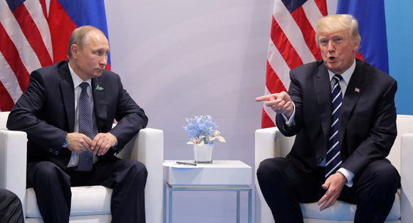 Trump y Putin, el esperado encuentro en Hamburgo. Foto: Reuters.