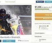 """Esta campaña pide dinero para construir escudos a un costo de 40 dólares por unidad (320 000 bolívares). """"Nuestro objetivo es más de 1.000 escudos en las calles"""", dice el anuncio que ha recaudado desde mayo más de 7 000 dólares."""