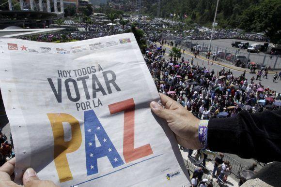Venezuela vota por la paz