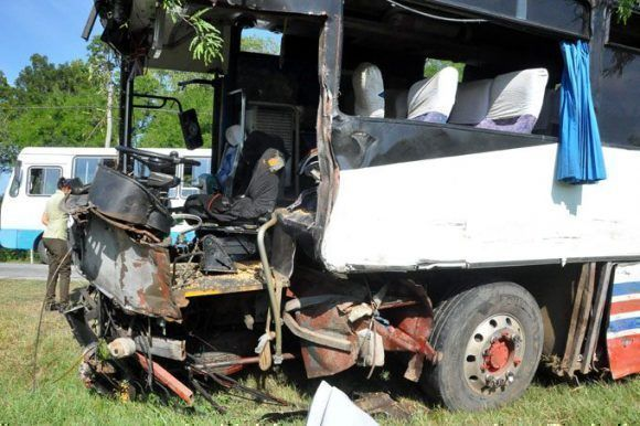 Una de las consecuencias del accidente. Foto: Rafael Martínez.