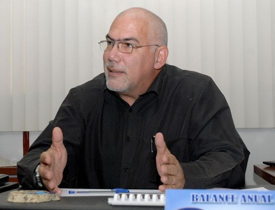 Antonio Eduardo Becali Garrido, Presidente del Instituto Nacional de Deportes, Educación Física y Recreación (INDER). Foto: Abel Rojas Barallobre. Miércoles 1 de julio de 2015
