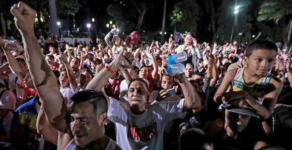 El pueblo venezolano celebra la victoria de la Constituyente. Foto: EFE.