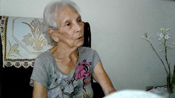 Cándida Ramona Tamayo Corría, viuda de Sigmund Sobolewski. Foto: Luis Carlos Palacios Leyva/ La Demajagua.