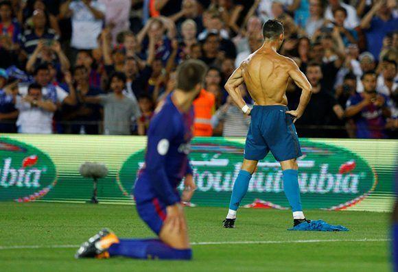 Cristiano Ronaldo celebra su golazo. Foto: Reuters.