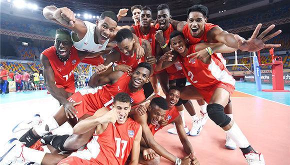 Los cubanos mejorar la actuación del último campeonato de la categoría. Foto tomada de la FIVB.