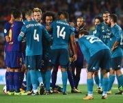 El partido se calentó en varias oportunidades. Foto: AFP.