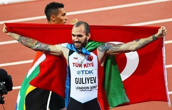Guliyev luego de su triunfo. Foto tomada de Mundo Deportivo.