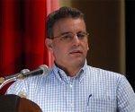 Intervención de Gustavo Rodriguez, ministro de la Agricultura, en el Tercer Pleno del Comité Nacional de la Asociación Nacional de Agricultores Pequeños (ANAP), en la Escuela Superior del Partido Comunista de Cuba (PCC), Ñico López, de La Habana, el día 16 de mayo de 2011.  AIN  FOTO/Modesto GUTIERREZ CABO/Thm