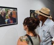 Inauguración de la exposición fotográfica Fidel Retrato Íntimo, de Alex Castro, en la Casa del Alba Cultural.  Foto: Marcelino Vázquez/ ACN.