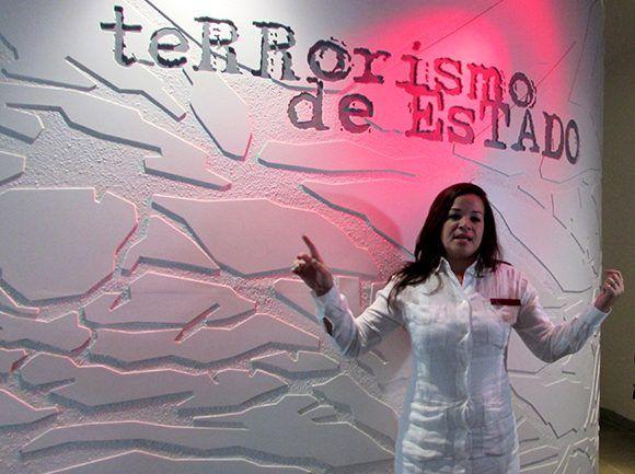 Terrorismo de Estado es el nombre de una de las salas del recinto. Foto: Cinthya García Casañas/ Cubadebate.