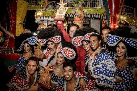 La carroza de los ministerios de Cultura y Transporte obtuvo el Gran Premio de Carrozas del Carnaval Holguín 2017, clausurado en la ciudad de Holguín, Cuba. Foto: Juan Pablo Carreras/ ACN.