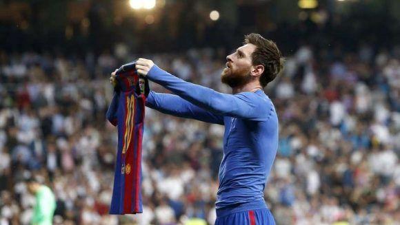 Lionel Messi en el útlimo clásico liguero contra el Real Madrid. Foto tomada de Clarín.
