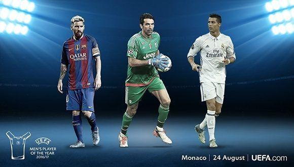 Los nominados al Premio UEFA. Imagen: UEFA.