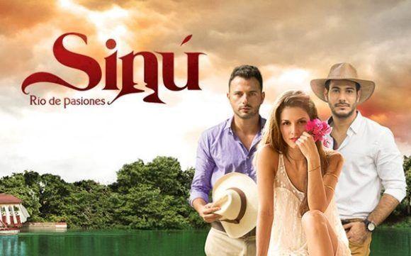 Mario Espitia, Natalia Jerez y el cubano Carlos Enrique Almirante son los protagonistas de Sinú, río de pasiones. Foto. Caracol TV.