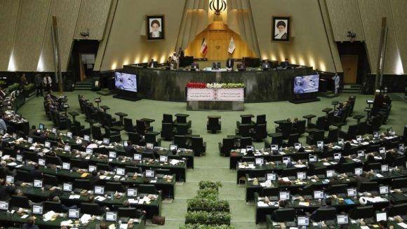 Parlamento iraní. Foto tomada de Clarín.