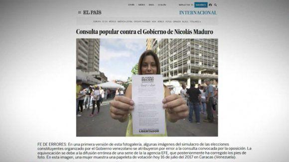 'El País' de España obligado a desmentir información sobre el plebiscito opositor de Venezuela. Foto tomada de Russia Today.