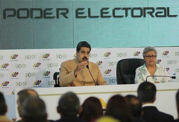 Nicolás Maduro condenó las sanciones que los Estados Unidos le impuso. Foto: Prensa Presidencial.