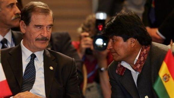 Vicente Fox y Evo Morales en 2006. Foto tomada de Telemetro.