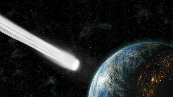 Recreación artística de la aproximación de un asteroide a la Tierra. Foto: GYI.