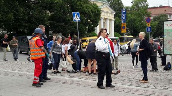 El ataque ocurrió la zona de Puutori-Market Square. Foto: YLE/ BBC.