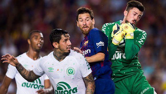 Barcelona vs Chapecoense del Trofeo Joan Gamper Foto: Edu Bayer / EFE